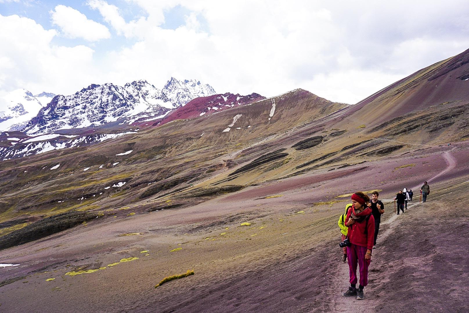 Rainbow Mountain Peruvian Girl