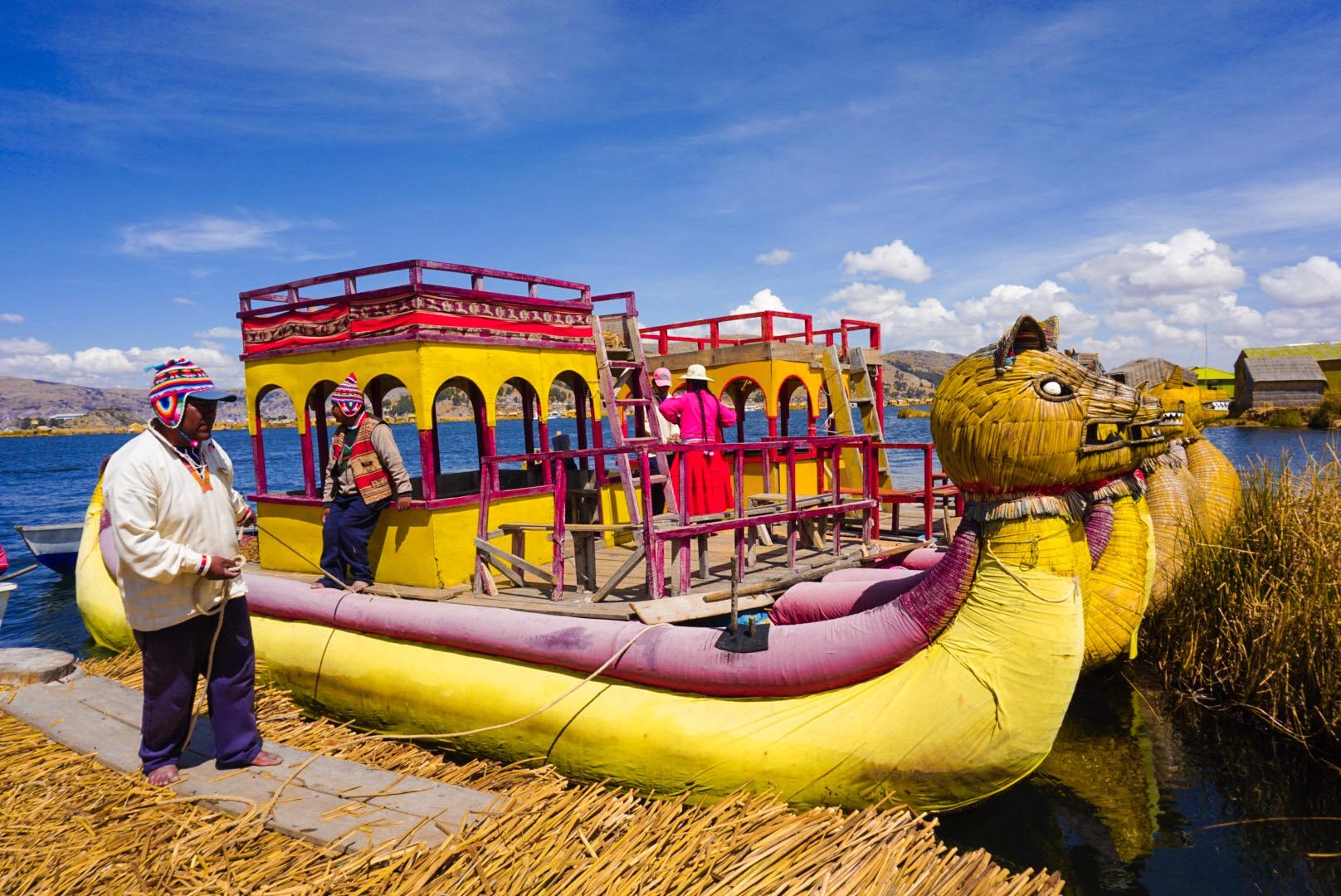 Imbarcazioni di Totora