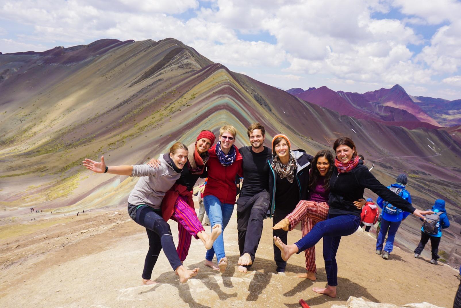 Montagna dei Sette Colori con Amici