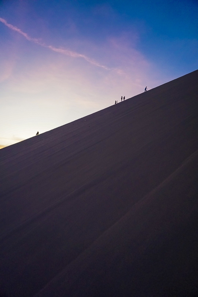 Sunset nel deserto del Peru