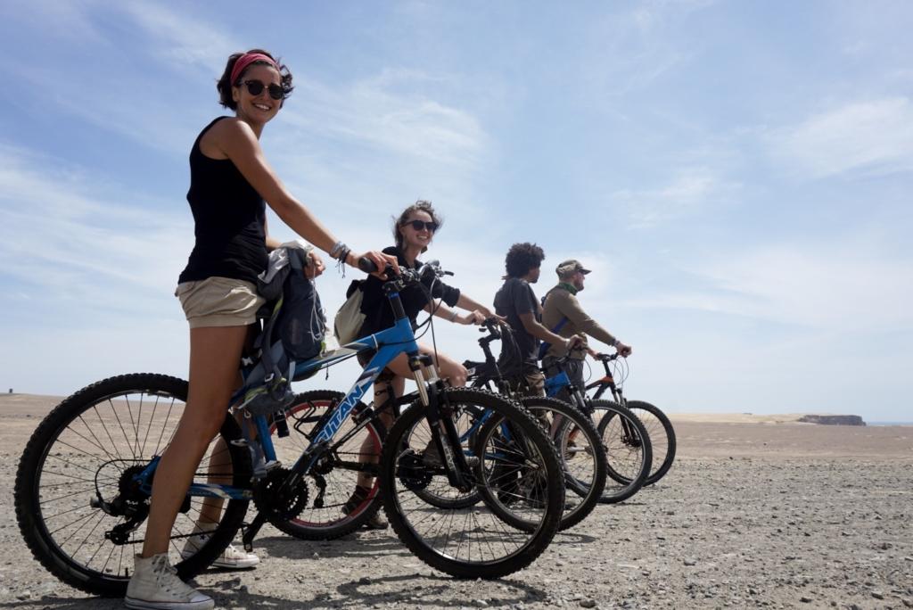 In bici nella riserva