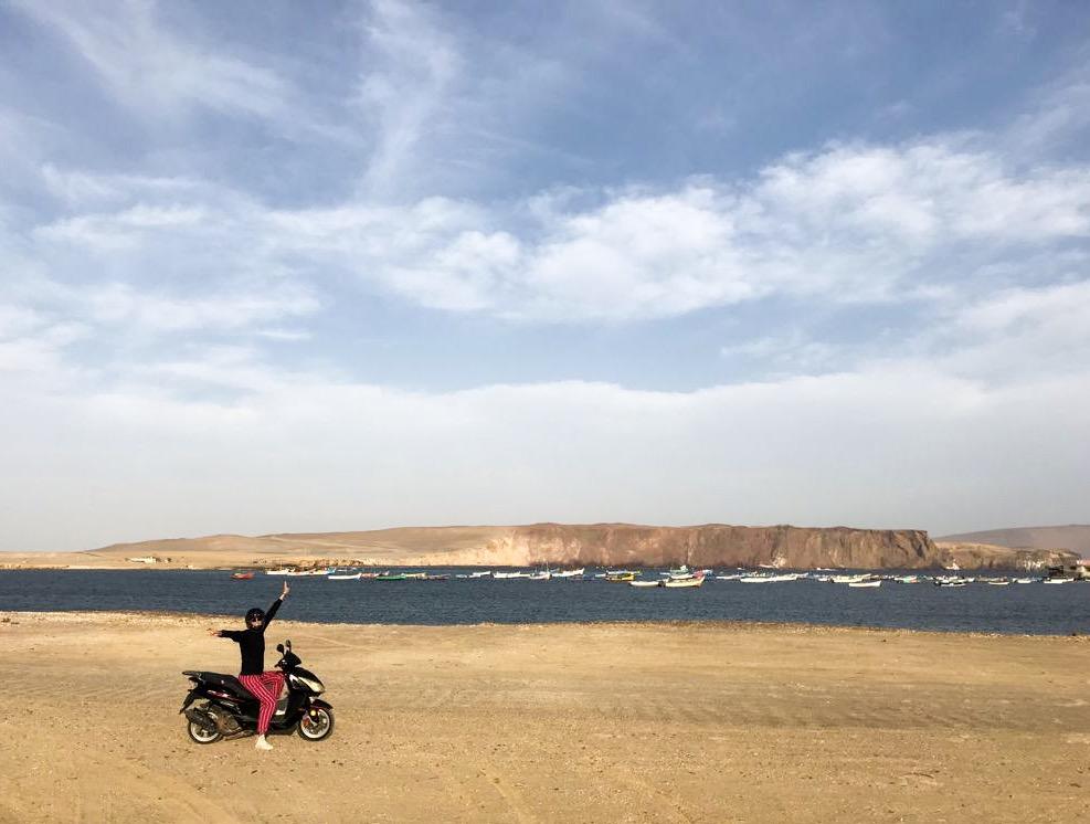 Andare nella riserva in moto