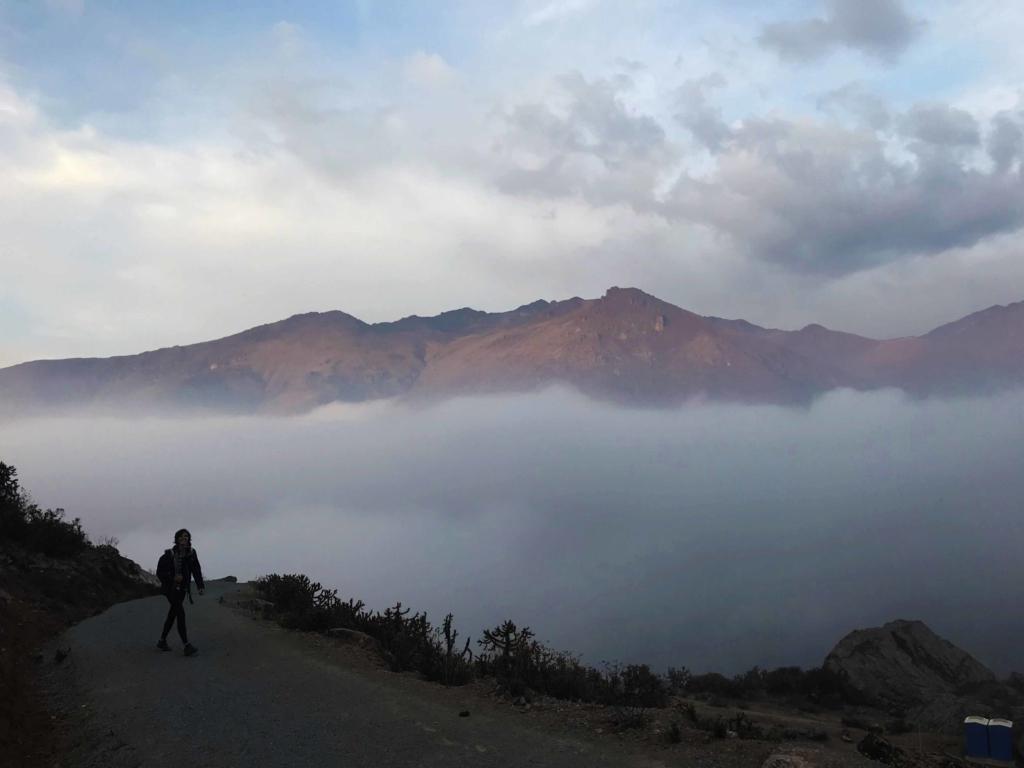 Camminata tra le nuvole